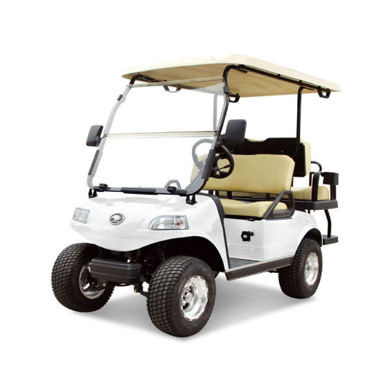 Golf Cart 2+2-Seater Electric Cart White Utility Vehicle