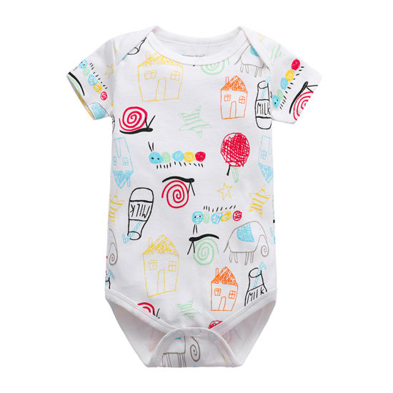 Bkd All Over Printing Pattern Summer Toddler Bodysuits