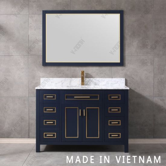 China 48inch Solid Wood New Design Elegant Modern Style Bathroom Vanity China Transitional Wall Mounted