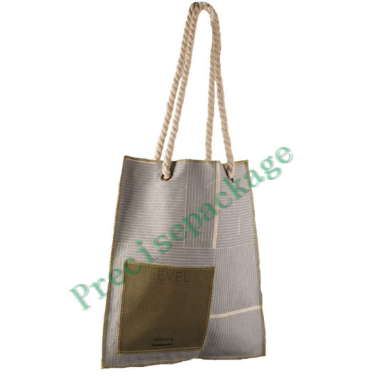Eco Friendly Natural Recycled Reusbale Cotton Canvas Plain Tote Bag