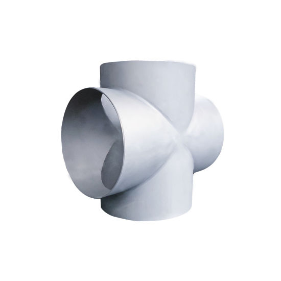 Factory Price 304/316L Industrial Exhaust Pipe Fitting 4-Way Cross