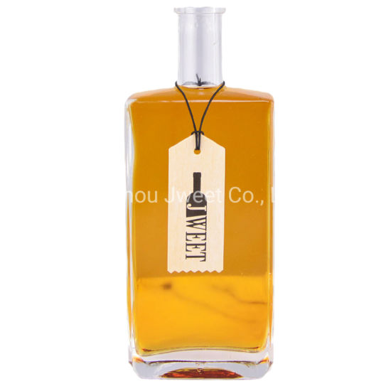 Square Tequila Clear Glass Bottle 500ml