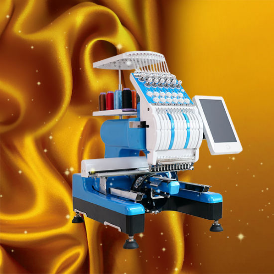 High Speed 1200rpm Single Head Cap Embroidery Machine for Cap/Shoes/Bag Embroidery