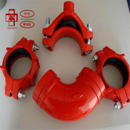 FM and UL Approved Ductile Iron Grooved Pipe Fittings and Couplings for Fire Protection System