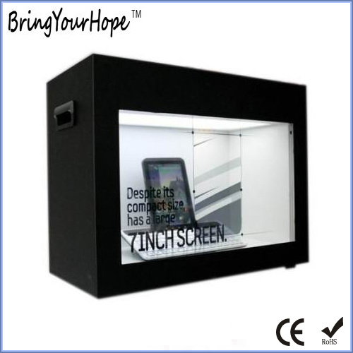 14 Inch Display Transparent LCD Showcase Ad Player (XH-DPF-140A)