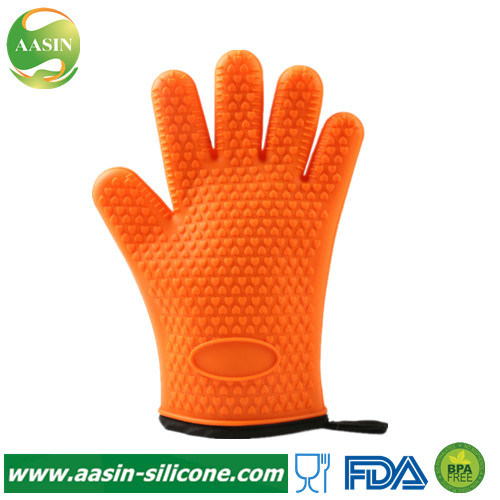 Waterproof Heat Resistant Silicone Oven Gloves Oven Mitts Pot Holder Non-Stick Kitchen Silicone BBQ Gloves for Cooking