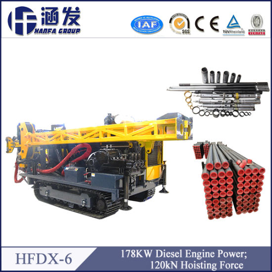 High Power! Hydraulic Core Drilling Rig (HFDX-6) pictures & photos