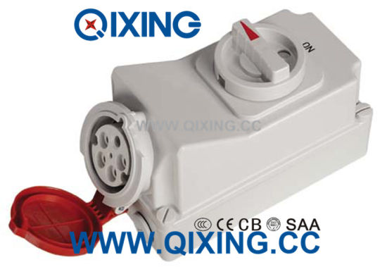 32A 5p Red Waterproof Switch and Socket