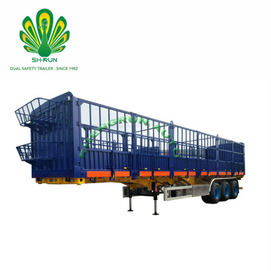 3 Axle Heavy Duty Cattle Livestock/Fence/Stake Utility Cargo Animal Pig Cow Transport EMI Trailer Cargo Truck Semi Trailer for Trailer/Truck Head