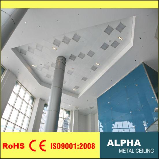 Aluminum False Decorative Exposed Indoor Lay In Suspended Ceiling