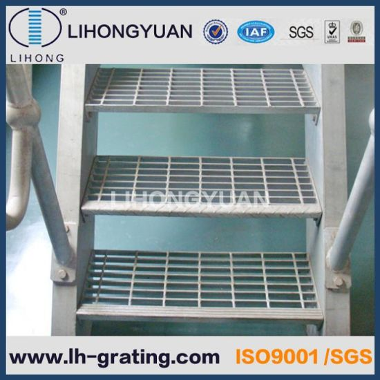 Galvanized Stair Treads with Checker Plate Nosing  sc 1 st  Ningbo Lihongyuan Steel Grating Co. Ltd. & China Galvanized Stair Treads with Checker Plate Nosing - China ...