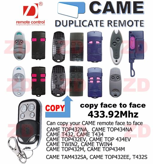 Face to Face Copy Came with Fixed Code for Remote Control