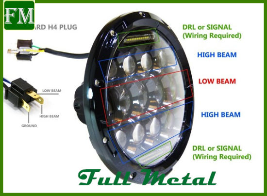7 Inch Replacement Led Headlight For Jeep Wrangler Offroad Parts