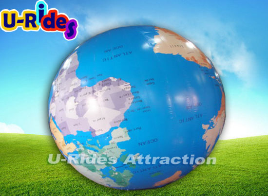Outdoor advertising inflatable giant globe ball with clear earth map pictures & photos
