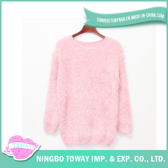 62745c1708e32 Knitted Fashion Acrylic Handmade Girl Pink Woollen Sweater pictures   photos