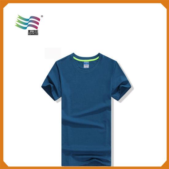 5bbc3370 100 Cotton Plain Stock Lot Men′s T Shirt with Printing pictures & photos