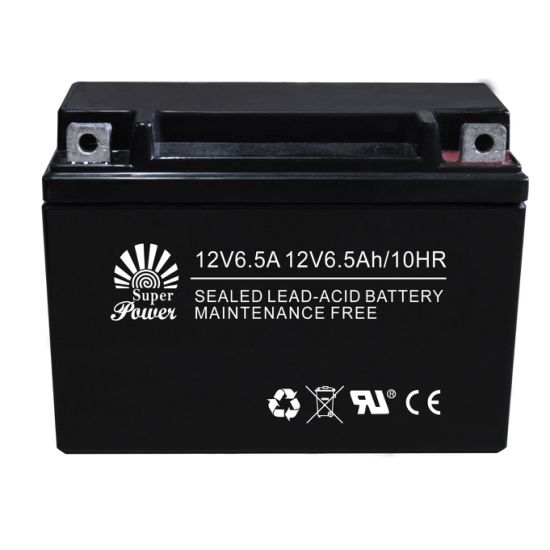 Maintenance Free Motorcycle Battery (12N6.5A) with Voltage 12V and Capacity 6.5ah, AGM Type