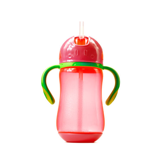 Baby Products Double Color Straw Water Training Sippy Baby Bottle pictures & photos