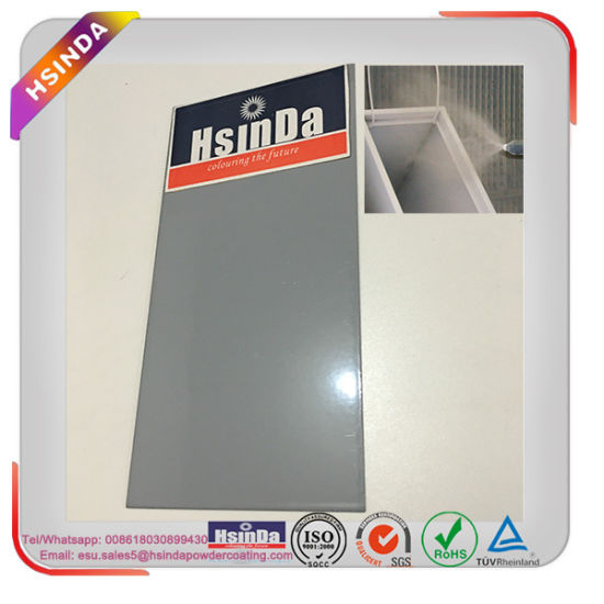 China Outdoor High Light Ral 7040 Light Grey Powder Coating For