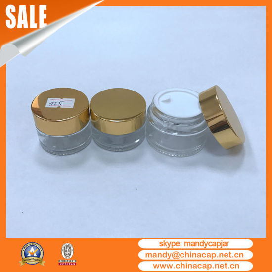 China Supplier Aluminum Glass Jar for Cosmetic Packaging pictures & photos