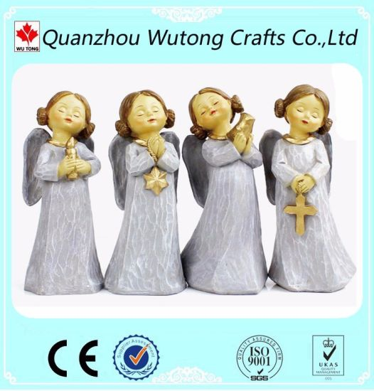 Wholesale Living Room Decoration Resin Fairy Figurines with Wings