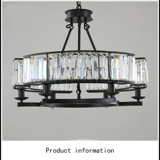 Crystal Chandelier Iron Art Pendant Lamp for Living Room pictures & photos