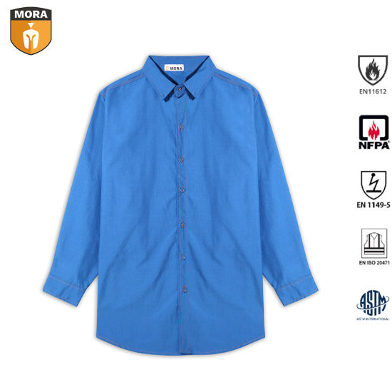 Men's 100%Cotton Fr Clothing Hot Products Flame Resistant Shirts Safety Work Wear for Office and Industry