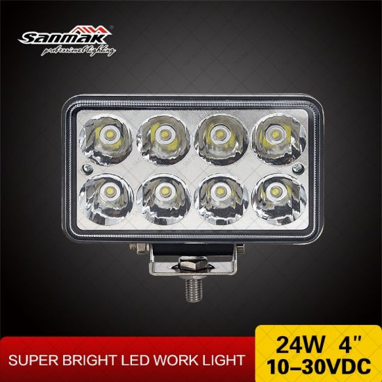 24W 4inch High Power Square 4X4 Offroad LED Work Light pictures & photos