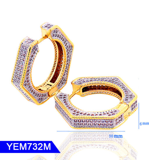 7dae54f2b New Fashion Jewelry 925 Sterling Silver or Brass 18K Gold Plated Hoop CZ  Earrings for Girls