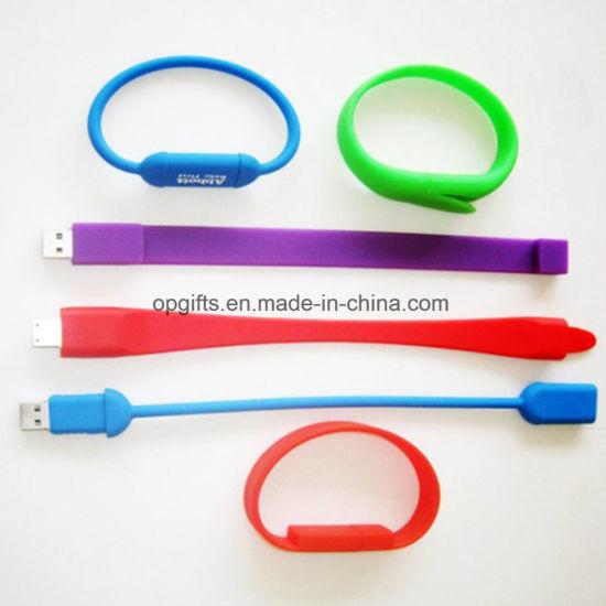 Custom Silicone Wristband USB Flash Drive Silicone USB Bracelet