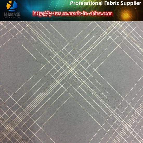 Yarn Dyed of Grey Plaid Fabric in Polyester Woven Textile for Garment (YD1179) pictures & photos
