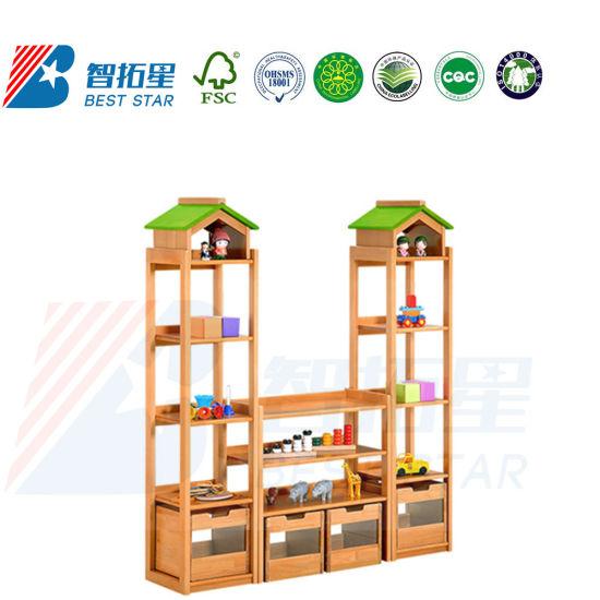 Playroom Furniture Toy Storage Rack, Daycare Furniture Kid's Rack. Combination Rack for Kinderargen and Preschool, School Furniture Children Display Rack