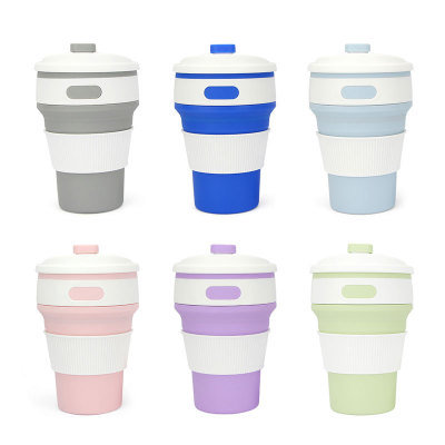 Eco-Friendly Foldable Travel Silicone Folding Cup /Collapsible Silicone Coffee Cup