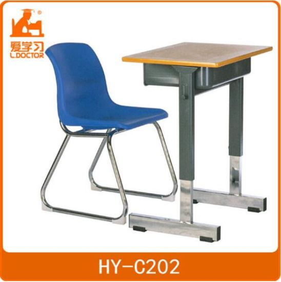 School Plastic Chair and Metal Desk for Students