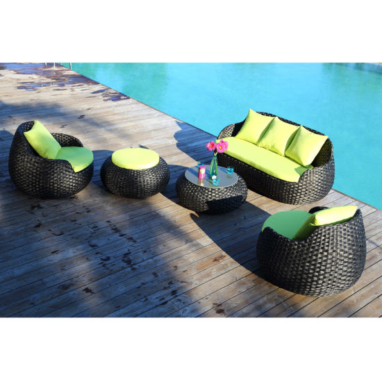 High Quality UV Resistant Indoor and Outdoor Sofa Furniture with Round Shape