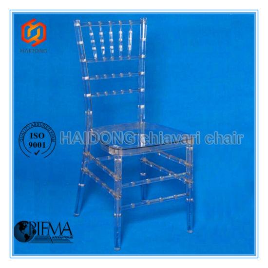 Crystal Polycarbonate Resin Tiffany Chiavari Chair