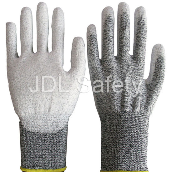 Industrial Using Keep Hands Safety Personal Protective Equipment Cut Resistant Work Glove with PU (PD8023)