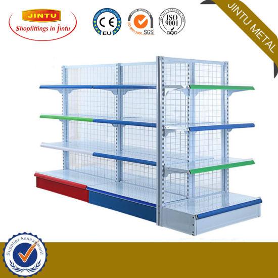 Top Quality Reasonable Price Supermarket Double Side Gondola Shelf