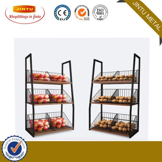Used Metal Supermarket Double Shelves