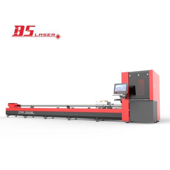 Precise Small Diameter 10-100mm Round Square Pipe Tube Fiber Laser Cutting Machine