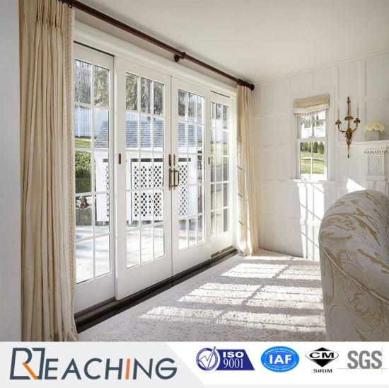 UPVC Door Grill Design, PVC Plastic Sliding Glass Door for Individual House