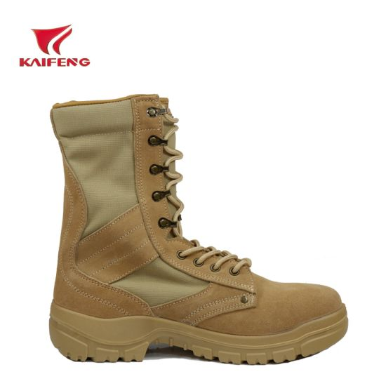 Wholesale Suede Men Safety Desert Army Leather Tactical Shoes pictures & photos