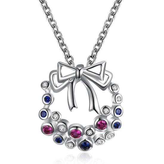 Fashion Bowknot Pendant Necklaces For Womens Necklace Jewelry Gifts