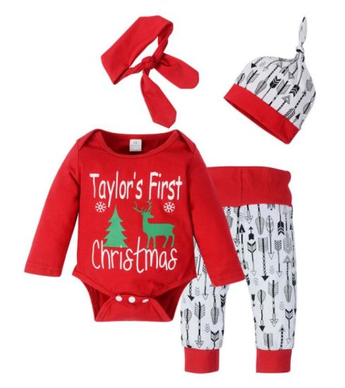 19c749cb6 Newborn Christmas Cotton Romper Set with Hat Baby Kid Girl Clothes Set  Summer Set for Baby