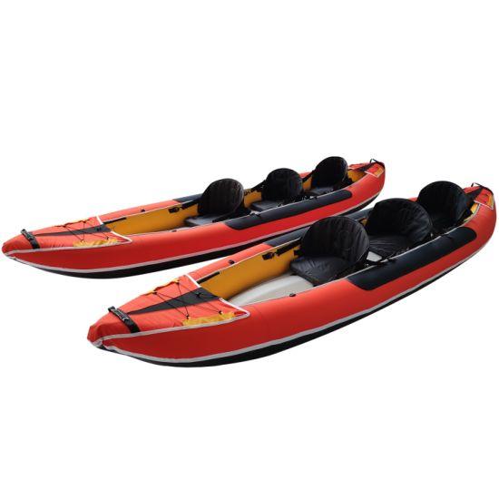 Dfaspo New Design Three Seat Inflatable Kayak Honeycomb Pattern Nylon Boat Canoe
