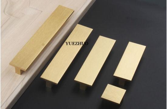 American Style Aluminum Kitchen Cabinet Door Handle Gold Drawer Pulls