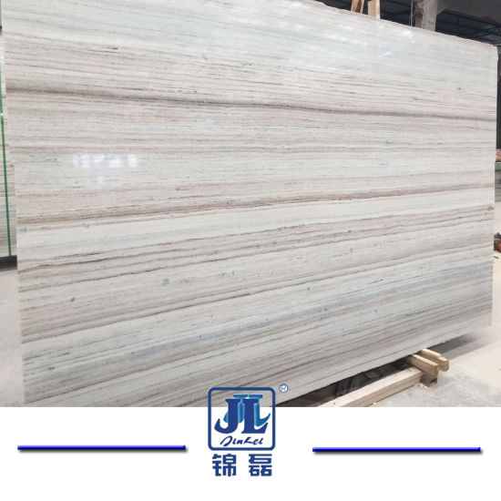 Natural Polished Marmara White Marble Crystal Wooden Vein Marble for Interior Decor, Tiles&Slabs