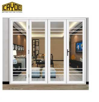 china popular modern aluminium front door sliding glass door design