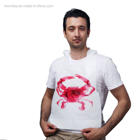 Wholesale in Stock Keep Clothing Clean Plastic Disposable Lobster Bib