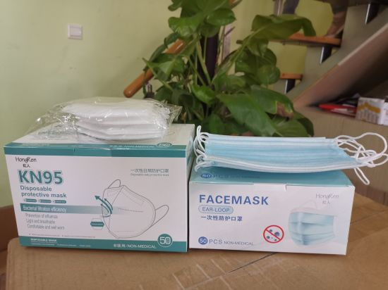 Standard 3ply Folding Blue Disposable Breathable Face Mask